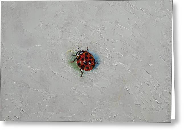 Ladybug Greeting Card by Michael Creese
