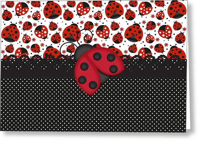Ladybug Mood  Greeting Card by Debra  Miller