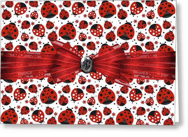 Ladybug Greeting Cards - Ladybug Obsession  Greeting Card by Debra  Miller