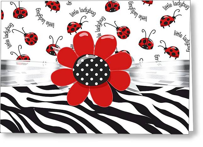 Ladybug Wild Thing Greeting Card by Debra  Miller