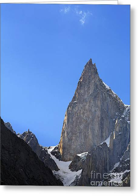 Ladyfinger Greeting Cards - Ladys Finger Peak in the Karakorum Pakistan Greeting Card by Robert Preston