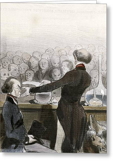Trial Greeting Cards - Lafarge murder trial, historical artwork Greeting Card by Science Photo Library