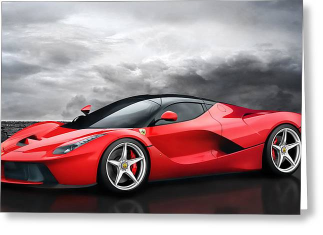 Engine Digital Greeting Cards - LaFerrari Dreamscape Greeting Card by Peter Chilelli