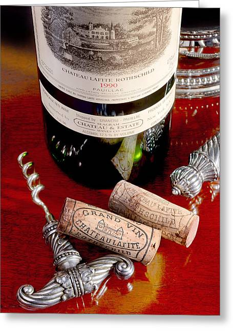 White Grape Greeting Cards - Lafite Greeting Card by Jon Neidert