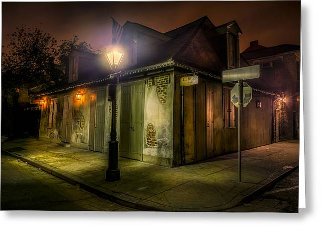 Captains Quarters Greeting Cards - Lafittes Blacksmith Shop Greeting Card by David Morefield