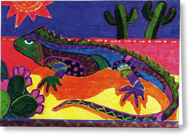 Lagarto Greeting Card by Claire Bistline