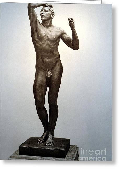 Naked Sculptures Greeting Cards - Lage Dairain Greeting Card by Rodin Auguste