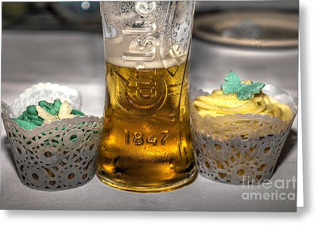 Bier Greeting Cards - Lager Cake  Greeting Card by Rob Hawkins