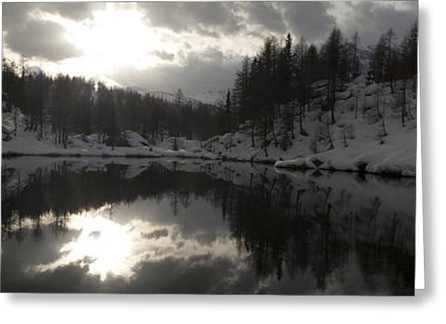Reflex Greeting Cards - Lago delle Streghe Greeting Card by Marco Affini