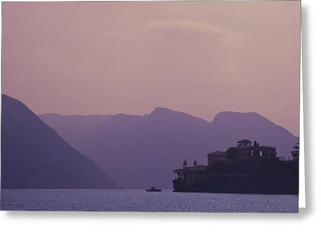 Lago Di Como Greeting Cards - Lago di Como Greeting Card by Roberto adrian Sanchez
