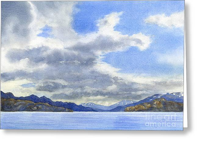 Lago Greeting Cards - Lago Grey Patagonia Greeting Card by Sharon Freeman