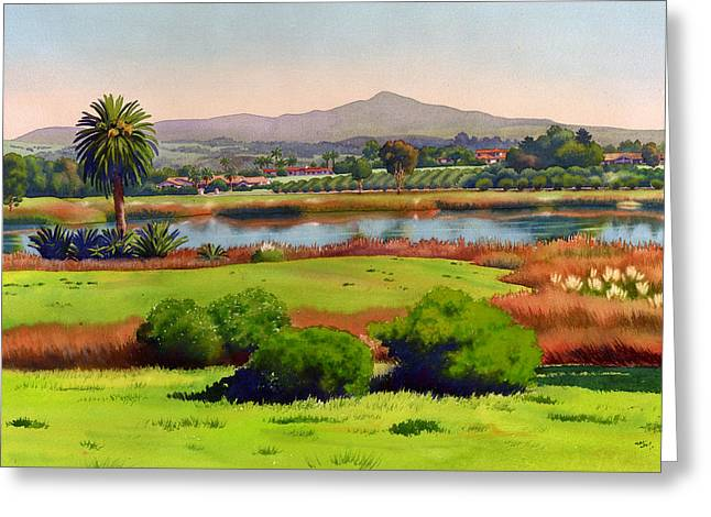 Mountain View Greeting Cards - Lago Lindo Rancho Santa Fe Greeting Card by Mary Helmreich