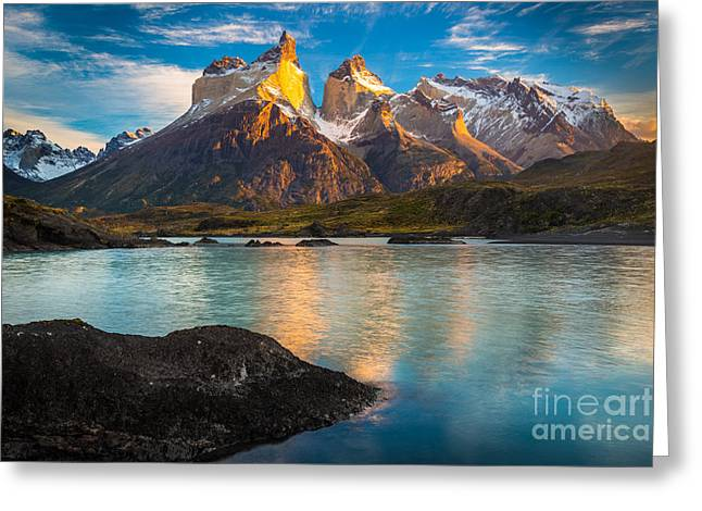 Paine Greeting Cards - Lago Nordenskjold Greeting Card by Inge Johnsson