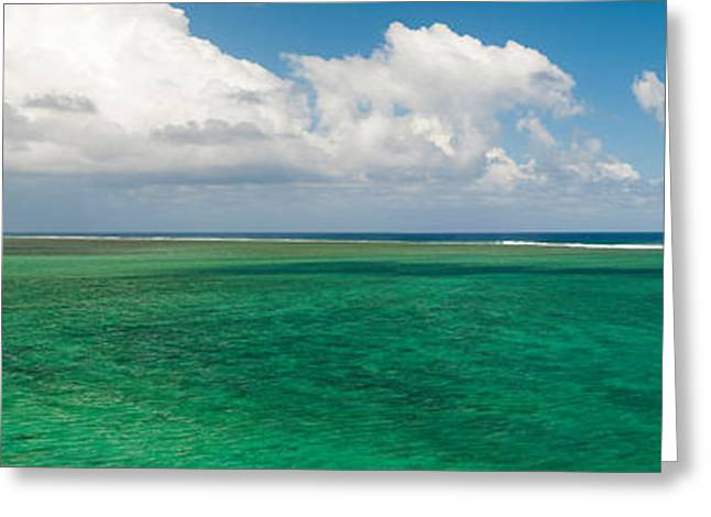 Mauritius Greeting Cards - Lagoon, Chamarel, Mauritius Island Greeting Card by Panoramic Images
