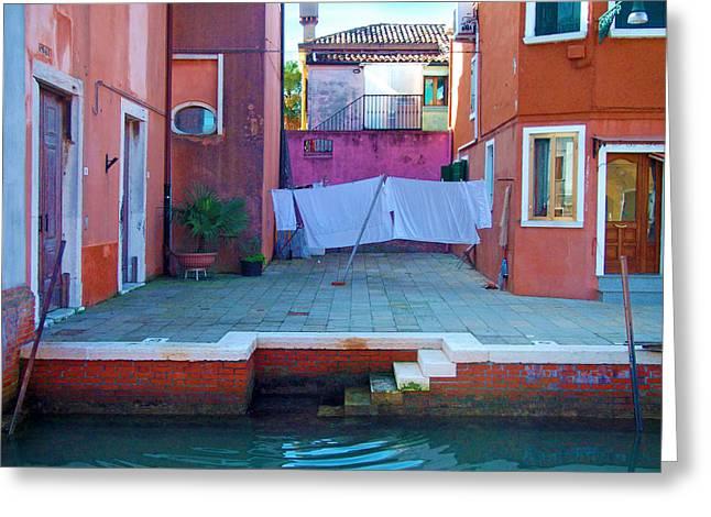 Venice - Italy Greeting Cards - Lagoon Courtyard Greeting Card by Douglas Girard