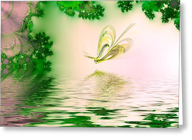 Abstract Butterfly Prints Greeting Cards - Lagoon Greeting Card by Sharon Lisa Clarke