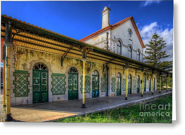 Manateevoyager Greeting Cards - Lagos Old Railway Station Greeting Card by English Landscapes