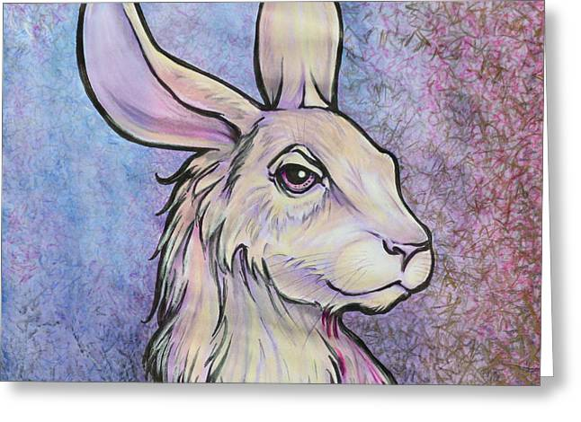 Lagos The Noble Hare Greeting Card by Karon Melillo DeVega