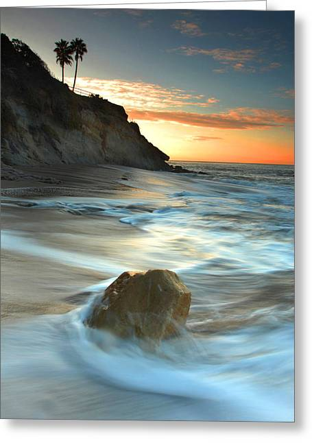 California Beaches Greeting Cards - Laguna Beach in the morning Greeting Card by Dung Ma