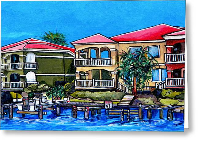 South Padre Island Texas Greeting Cards - Laguna Dockside Greeting Card by Patti Schermerhorn