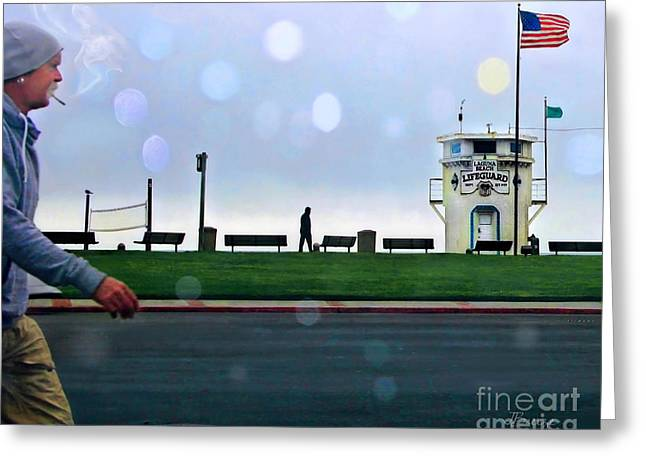 Pch Greeting Cards - Laguna Living-LifeGuard Station Greeting Card by Jennie Breeze