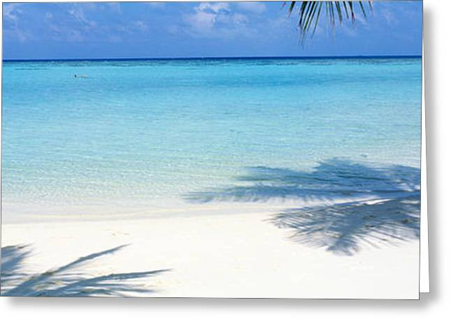 Beach Greeting Cards - Laguna Maldives Greeting Card by Panoramic Images