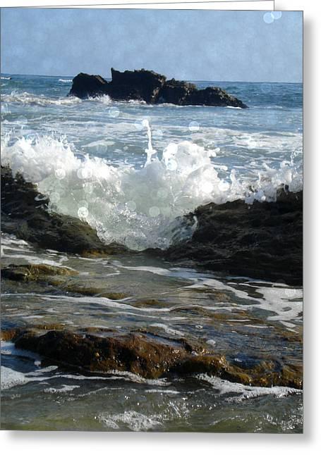 Laguna Splash Greeting Card by Roleen  Senic