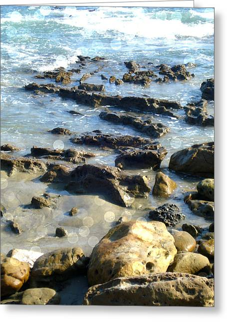 Laguna Tides Greeting Card by Roleen  Senic