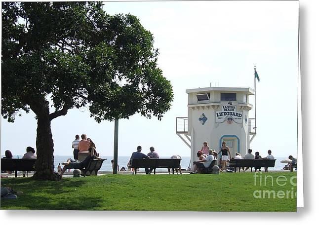 Michael Swanson Greeting Cards - Lagune Beach Greeting Card by Michael Swanson