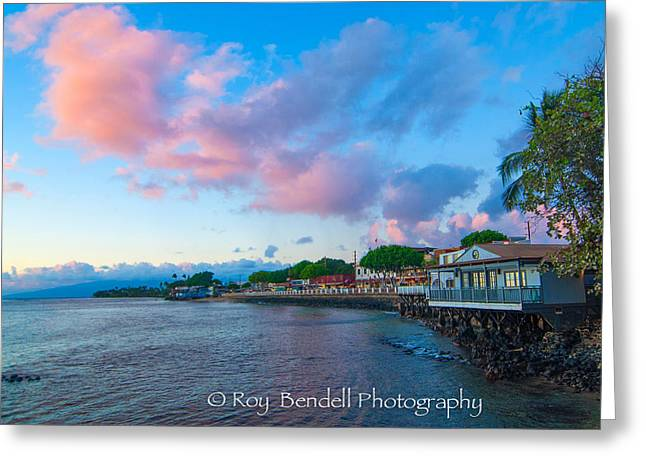 Lahaina Greeting Cards - Lahaina at sunset Greeting Card by Roy Bendell