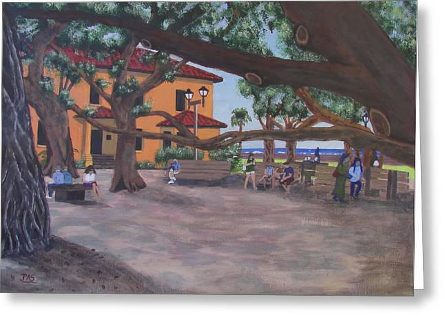 Print On Canvas Greeting Cards - Lahaina Banyan Park Greeting Card by Pete Souza