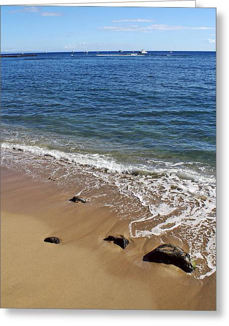 Lahaina Greeting Cards - Lahaina Beach Greeting Card by Julia Clooten