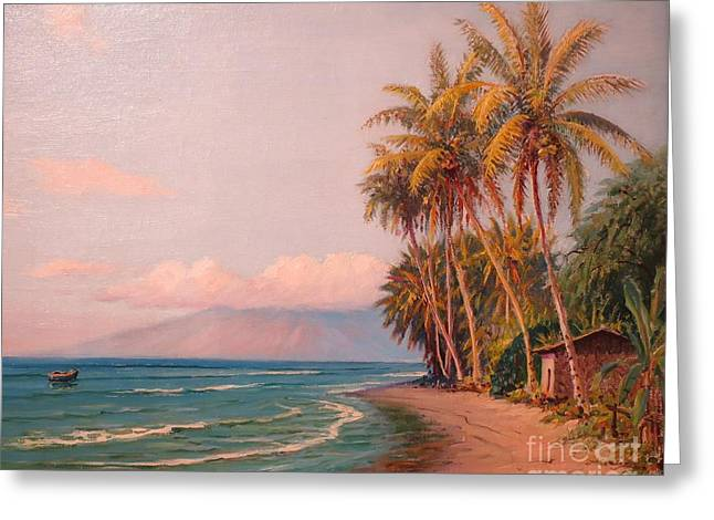 Lahaina Greeting Cards - Lahaina Beach - West Maui Greeting Card by Pg Reproductions