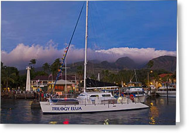Lahaina Photographs Greeting Cards - Lahaina By Night Greeting Card by James Roemmling