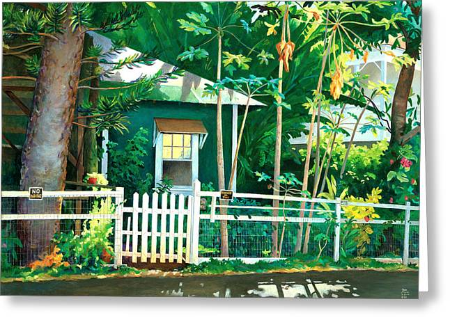 Don Jusko Greeting Cards - Lahaina Cane House Greeting Card by Don Jusko