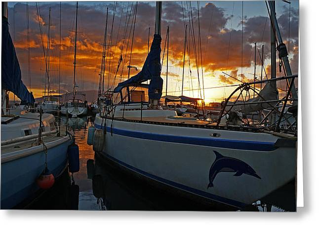 Lahaina Fire Greeting Card by James Roemmling