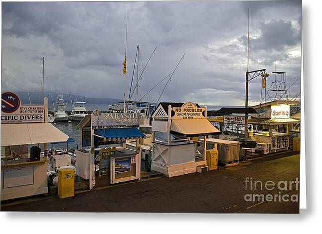 Lahaina Greeting Cards - Lahaina Harbor Closed for the night Greeting Card by Ken Andersen