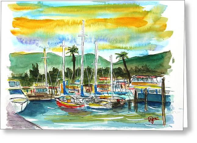 Lahaina Greeting Cards - Saline Sunrise Greeting Card by Tim Ross