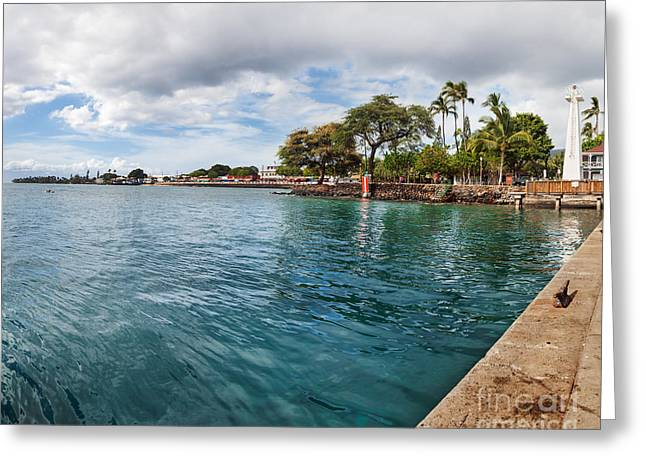 Lahaina Greeting Cards - Lahaina Lighthouse and Front Street Greeting Card by Jo Ann Snover
