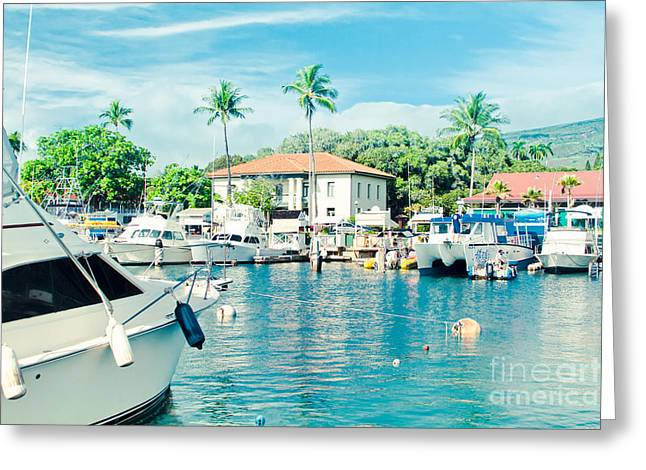 Lahaina Photographs Greeting Cards - Lahaina Marina Greeting Card by Sharon Mau