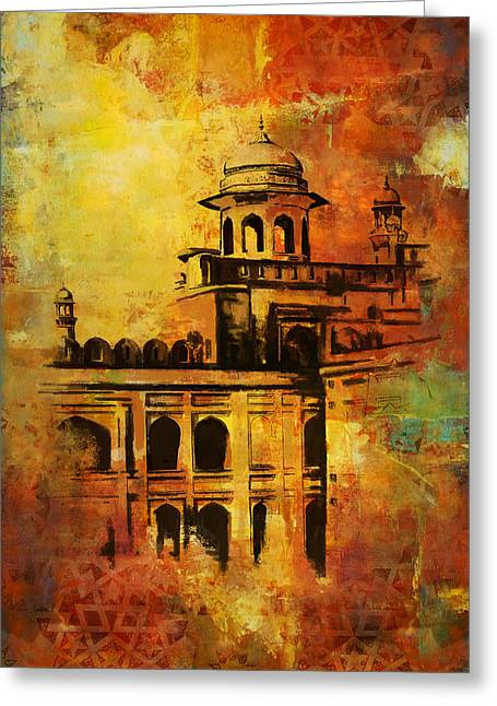 Akbar Shahjahan Greeting Cards - Lahore Fort Greeting Card by Catf