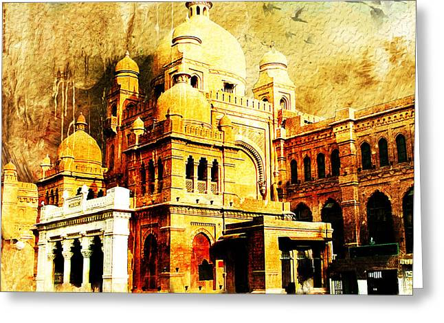 Pakistan Greeting Cards - Lahore Museum Greeting Card by Catf