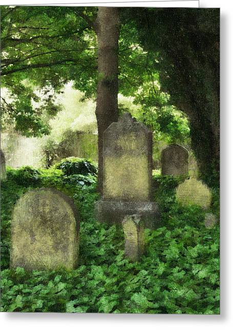 Overhang Digital Art Greeting Cards - Lain Under an Ivy Blanket Greeting Card by Steve Taylor