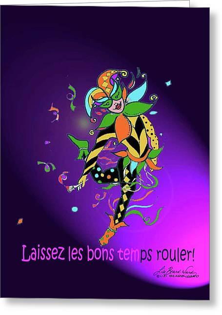 Jester Mixed Media Greeting Cards - Laissez les Bon Temps Rouler Greeting Card by Lizi Beard-Ward