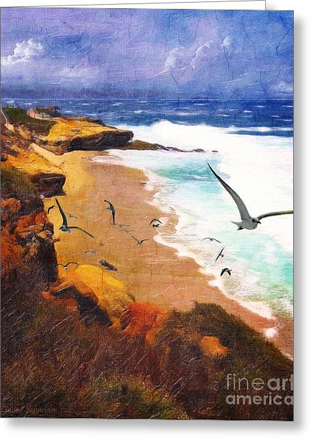 Lianne Greeting Cards - LaJolla Afternoon Greeting Card by Lianne Schneider