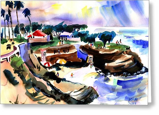 Lajolla Cove Greeting Card by John Dunn