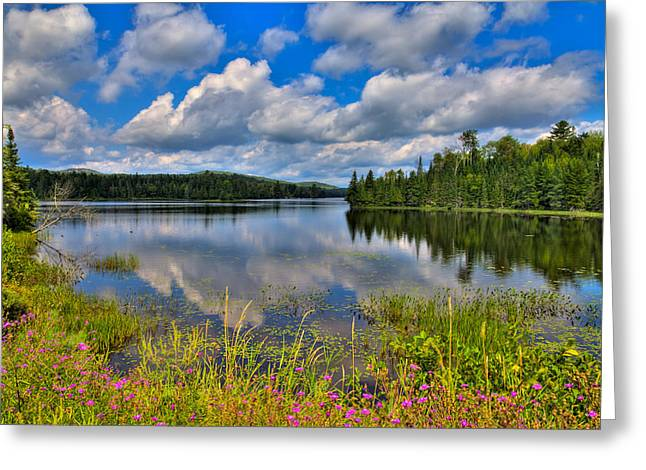 Lake Abanakee in Indian Lake New York Greeting Card by David Patterson