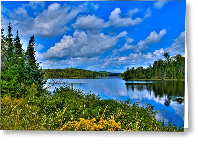 Fall Folage Greeting Cards - Lake Abanakee - Indian Lake New York Greeting Card by David Patterson