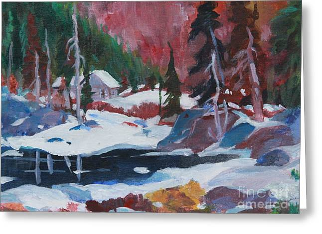 Park Scene Paintings Greeting Cards - Lake Algonquin Park  revisited Greeting Card by Sherrill McCall
