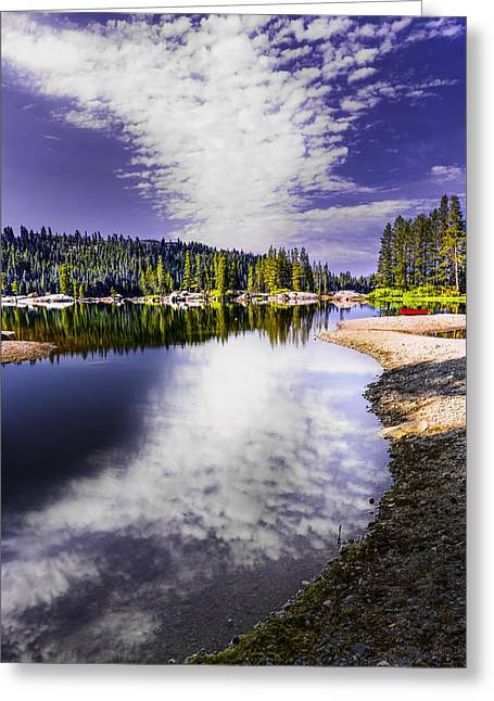 Ebbetts Pass Greeting Cards - Lake Alpine Reflection Greeting Card by PhotoWorks By Don Hoekwater
